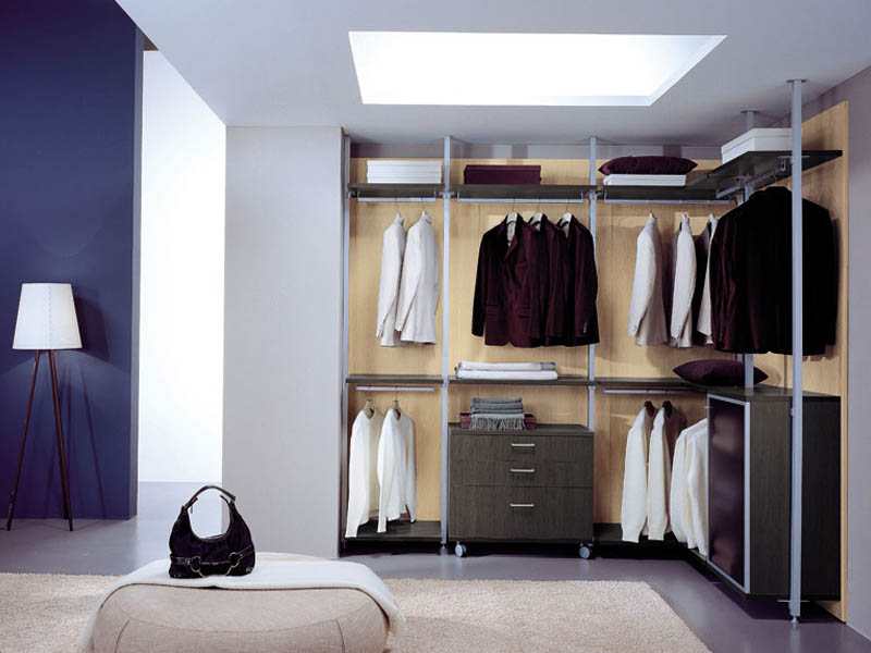 Aluminium profile to build walk-in wardrobes and living solution